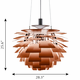Louis Poulsen PH Artichoke Pendant Light, Copper, 28.3""