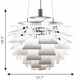 Louis Poulsen PH Artichoke Pendant Light, White, 33.1""