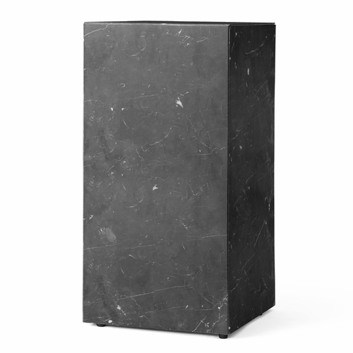 Menu Plinth Tall, Black Marble
