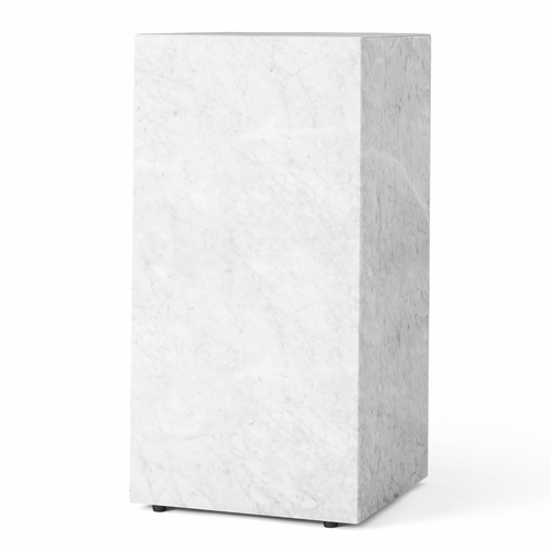 Plinth Tall, White Marble