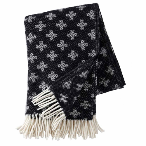 Plus Brushed Lambs Wool Throw, Black