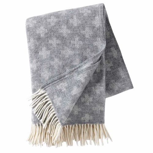 Plus Brushed Lambs Wool Throw, Light Grey