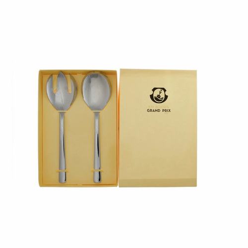 Polished Steel Small Serving Set