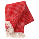 Polka Brushed Lambs Wool Throw, Red ( 1 Left)