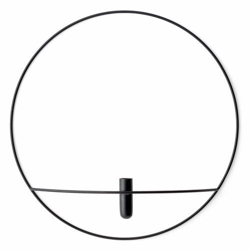 POV Circle Vase, Large, Black