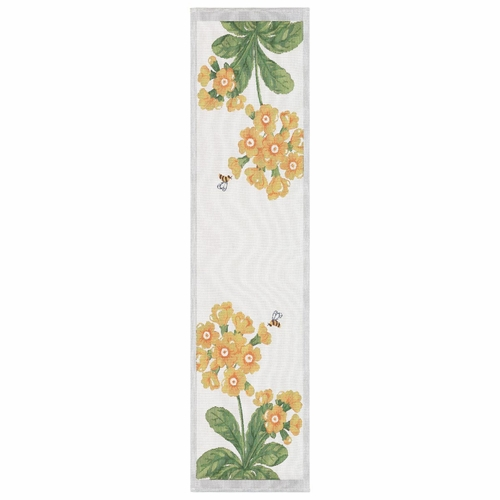 Primula Table Runner, 14 x47 inches