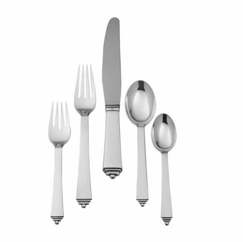 Pyramid 5-Piece Silver Cutlery Set