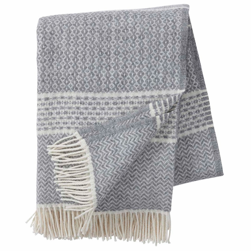 Quilt Brushed ECO Lambs Wool Throw, Grey