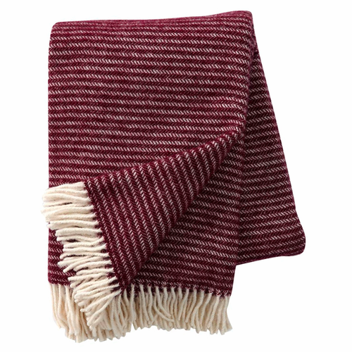 Ralph Brushed ECO Lambs Wool Throw, Aubergine