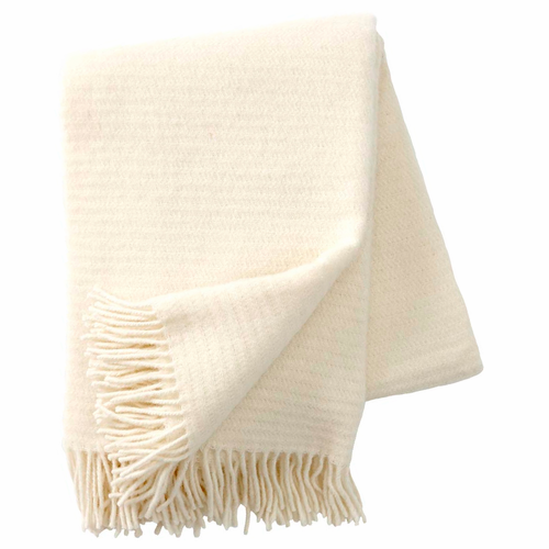 Ralph Brushed ECO Lambs Wool Throw, Ivory