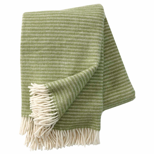 Klippan Ralph Brushed ECO Lambs Wool Throw, Linoleum