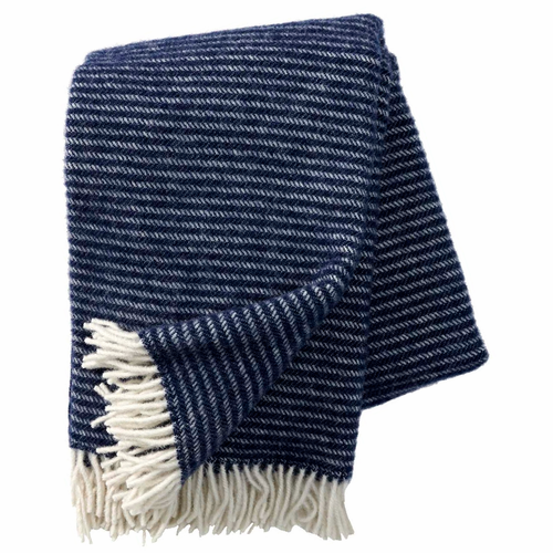 Ralph Brushed ECO Lambs Wool Throw, Navy