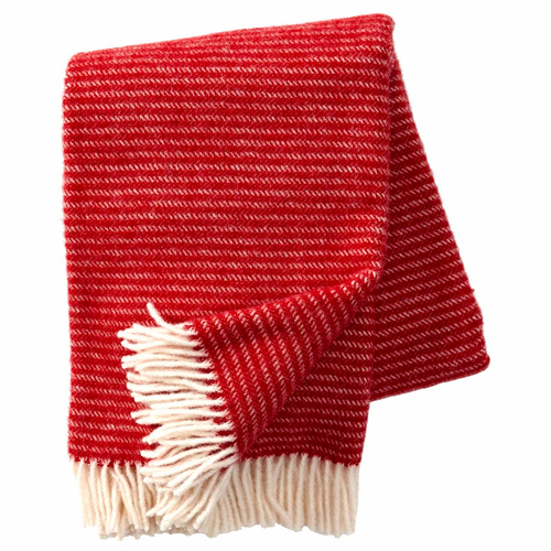 Ralph Brushed ECO Lambs Wool Throw, Red