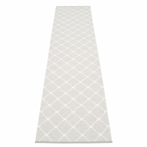 Rex Plastic Rug - Fossil Grey/White, 2 1/4' x 14'