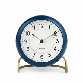 Arne Jacobsen Station Table Clock - 3 Colors - Click to enlarge