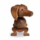 Rosendahl Dog, Walnut by Kay Bojesen