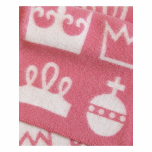 Royal Children's Wool Blanket - Pink