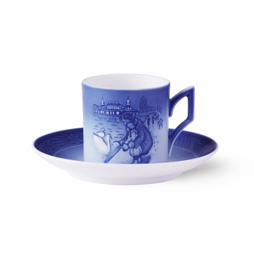 Royal Copenhagen Cup & Saucer - Girl and Swan, 2017