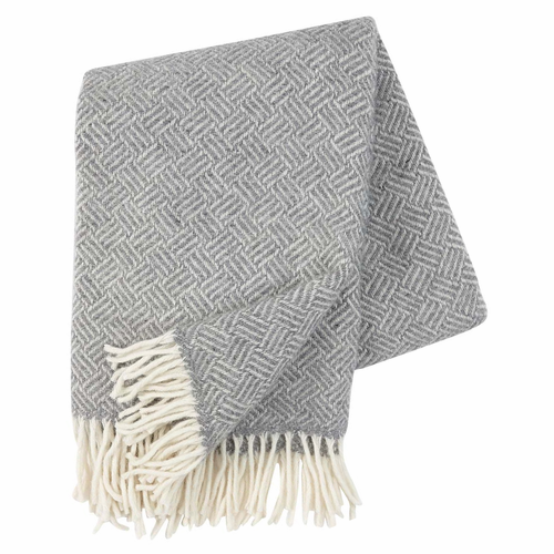 Klippan Samba Brushed Lambs Wool Throw, Grey