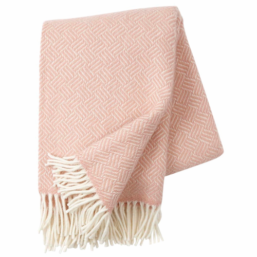 Samba Brushed Lambs Wool Throw, Rose Cloud