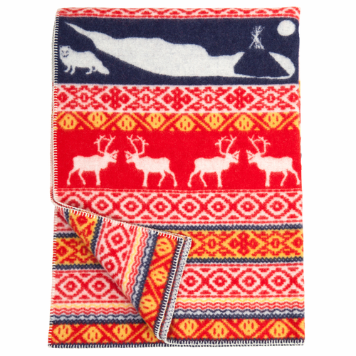 Klippan Sarek ECO Lambs Wool Blanket, Multi Color