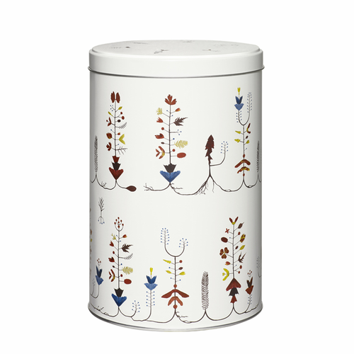 "Sarjaton Tin Box 5 X 7.75"" Varpu White"
