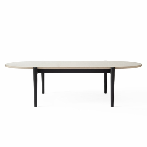 Septembre Coffee Table, Black Ash/Grey Marble