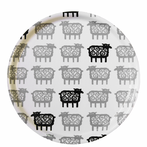 Sheep Round Tray