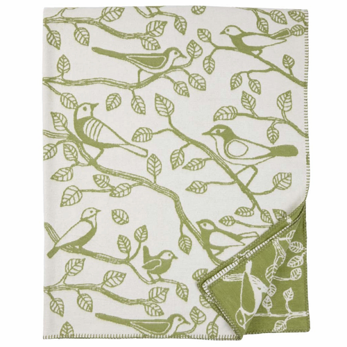 Sherwood Organic Brushed Cotton Blanket, Green
