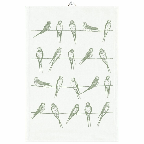 Sitting Birds 04 Tea Towel, 14 x 20 inches