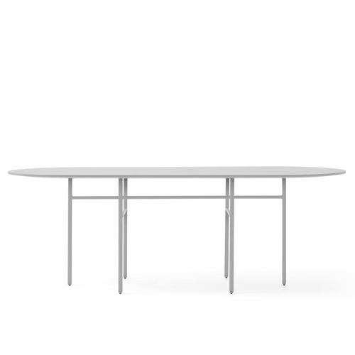 Snaregade Oval Table, Light Grey