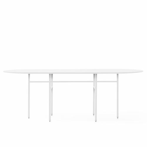 Snaregade Oval Table, White Laminate