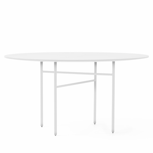 Snaregade Round Table, White Laminate, 54""