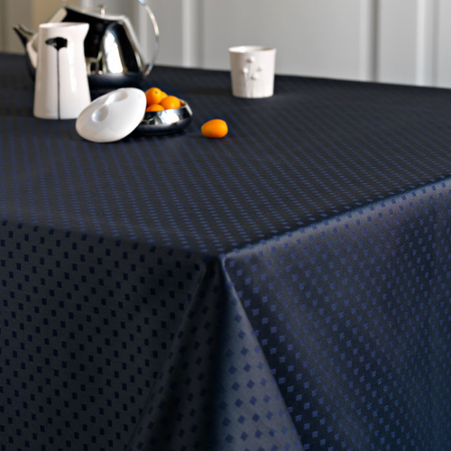 Snowflakes Tablecloth, Blue Abyss