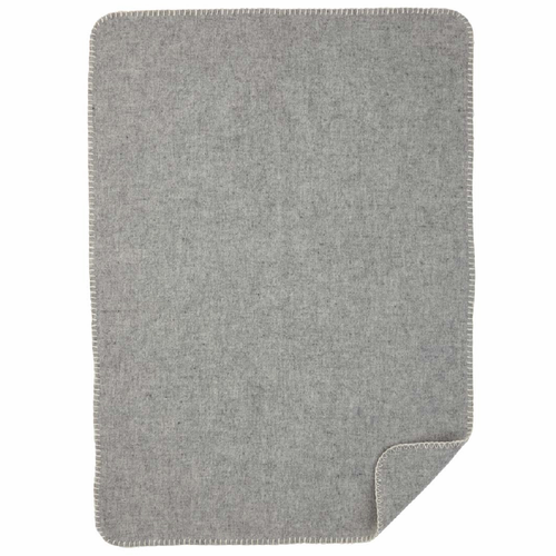 Soft Merino & Lambs Wool Baby Blanket, Light Grey