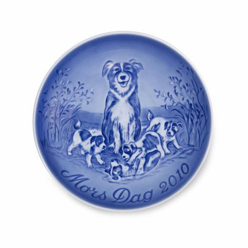 SOLD OUT: 2010 Bing & Grondahl Mother's Day Plate Collie with the Playful Puppies 42nd Edition