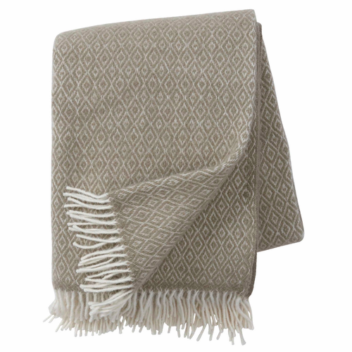 Stella Brushed Lambs Wool Throw, Cream