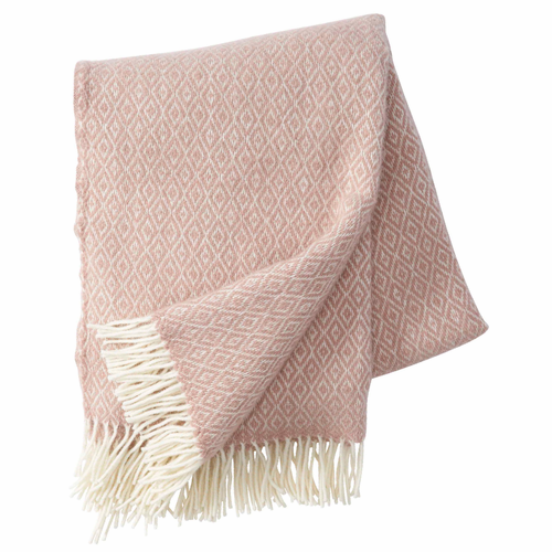 Klippan Stella Brushed Lambs Wool Throw, Nude