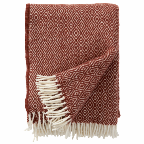 Stella Brushed Lambs Wool Throw, Rust