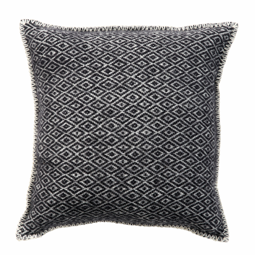 Stella Wool Cushion Cover, Black