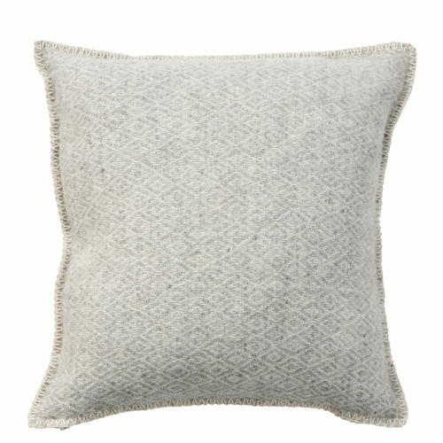 Stella Wool Cushion Cover, Light Grey