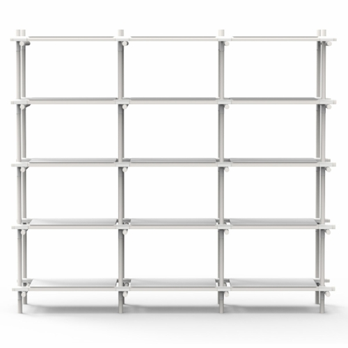 Menu Stick System, 3x5, White/White