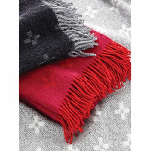 Stjarnsund (Squared Star) Wool Throw