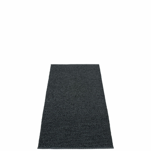 Svea Plastic Rug - Black Metallic/Black, 2 1/4' x 5 1/4'