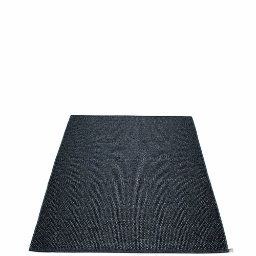 Svea Plastic Rug - Black Metallic/Black, 4 1/2' x 7 1/4'