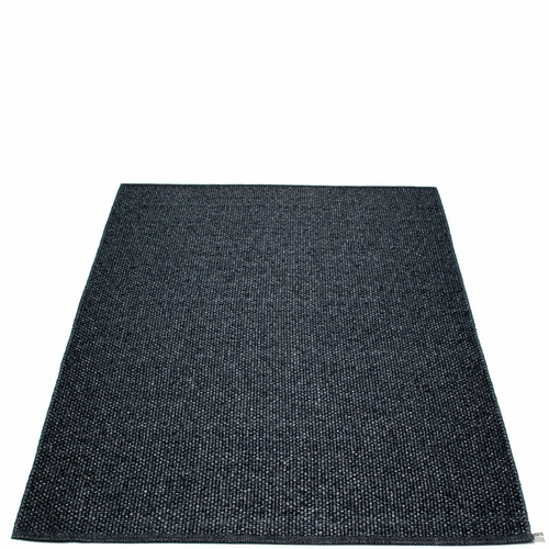 Svea Plastic Rug - Black Metallic/Black, 6' x 8 1/2'