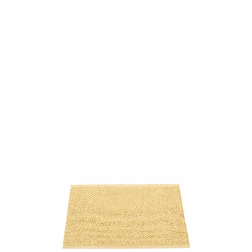 Svea Plastic Rug - Gold Metallic/Pale Yellow, 2 1/4' x 1 3/4'