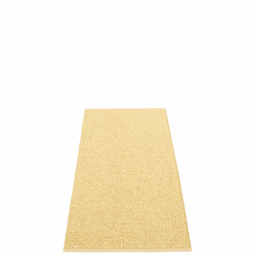 Svea Plastic Rug - Gold Metallic/Pale Yellow, 2 1/4' x 5 1/4'