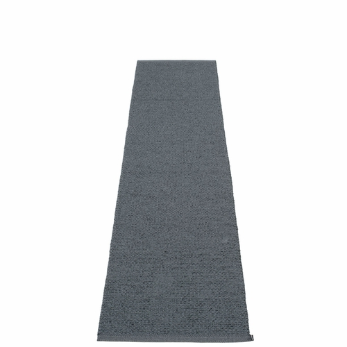 "Svea Plastic Rug - Granite/Black Metallic, 24"" x 99"""
