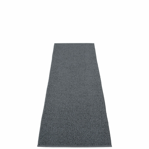 "Svea Plastic Rug - Granite/Black Metallic, 27"" x 96"""
